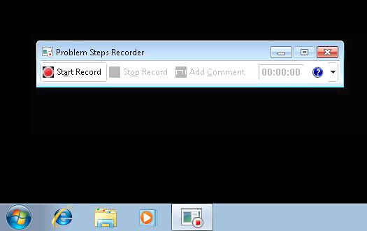 Problem Recorder icon and toolbar